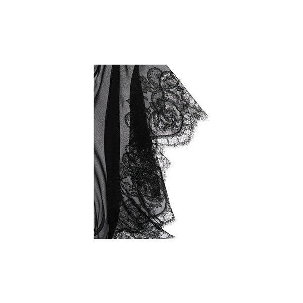 Carine Gilson Frou Frou silk-chiffon kimono ($646) found on Polyvore