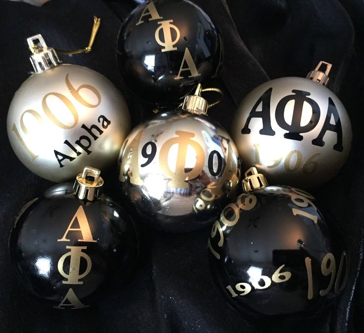 Set of 6 Fraternity ornaments inspired by Alpha Phi Alpha 1906 by AddiCakeCreations on Etsy