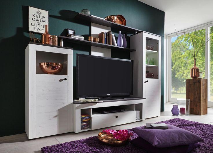 120 besten Wohnwände Bilder auf Pinterest Möbeldesign und - wohnzimmer wohnwand weiß
