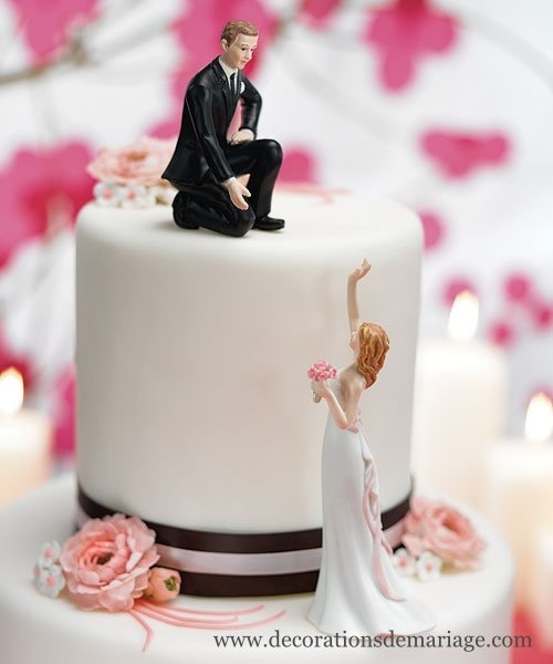 funny but romantic wedding cake