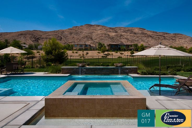 Swimming Pool With Spa In San Antonio Texas Geometric Swimming Pools Pinterest