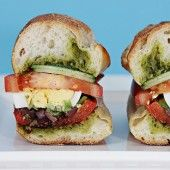 Pan bagnat with grilled peppers and basil vinaigrette — food & style