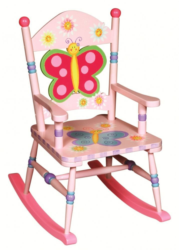 Children's Furniture - Guidecraft Butterfly themed wooden rocking chair - £89.95