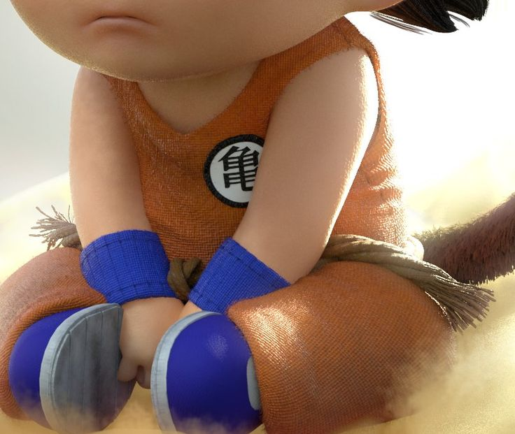 Sad Goku, Gabriel Cruz on ArtStation at https://www.artstation.com/artwork/sad-goku