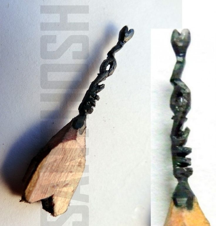 Amazing sculptures made on the tip of a graphite pencil