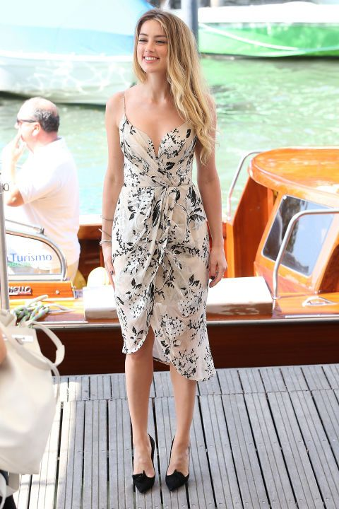 Amber Heard in Zimmermann at the 2015 Venice Film Festival. See all the stars' gowns, dresses, and jewels from the premieres.