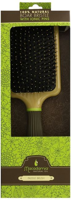 Macadamia Oil Paddle Cushion Brush with Boar Bristles on eBay