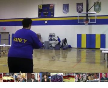 Mom sinks unbelievable half-court shot to win free tuition for daughter
