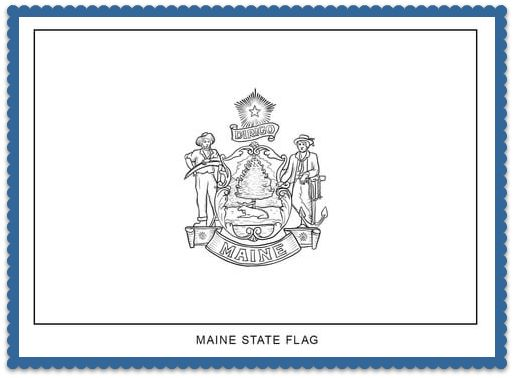 150 best usa state flags images on pinterest states for Maine flag coloring page
