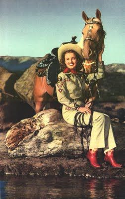 Dale Evans and Buttermilk on the Roy Rogers show that I loved.