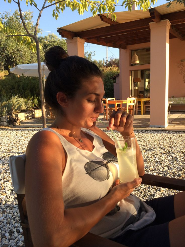 Home-made lemonade! From lemons growing in our estate  #lemonade #vacations #eleonashotel #greece