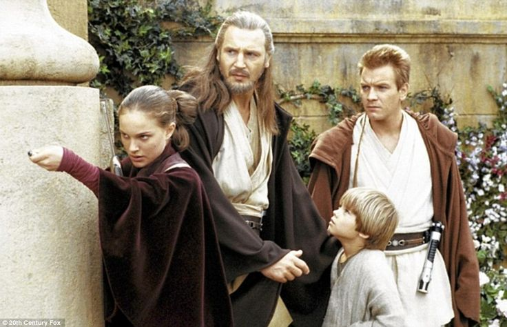 They had big shoes to fill: Natalie Portman, Liam Neeson, Jake Lloyd and Ewan McGregor in the 1999 film Star Wars: Episode I - The Phantom M...