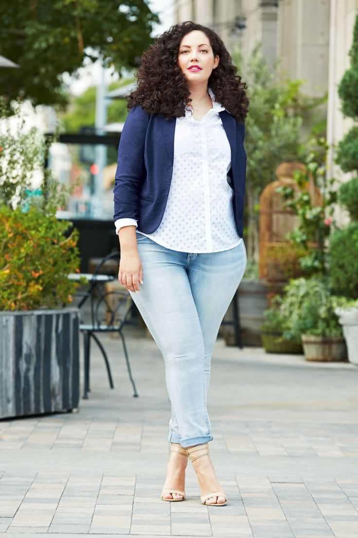 Classic curvy preppy. For more inbetweenie and plus size ...