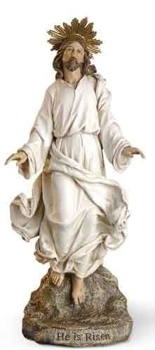 286 best easter gifts images on pinterest easter gift spiritual he is risen jesus christ statue stone mix easter gift josephs studio collectible negle Images