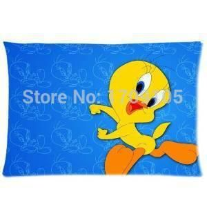 [Visit to Buy] Tweety Bird Merrie Melodies Personalized Roomy Zippered Pillow Case 35x45 (One Side) #Advertisement