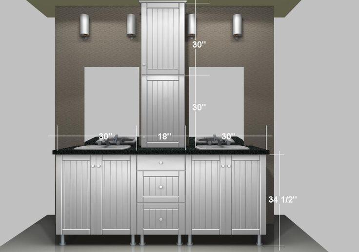 Ikea Bathroom Vanities A Linen Closet On The Countertop Bathroom Pinterest Bathroom