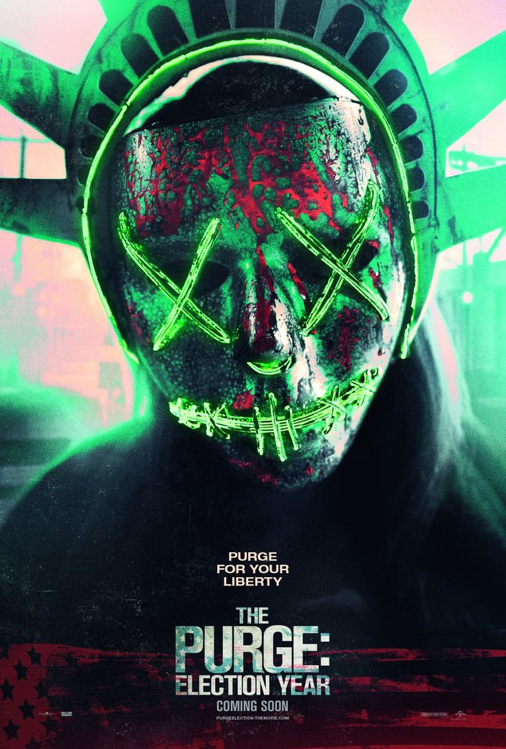 The Purge [] Election Year [] [2016] [] http://www.imdb.com/title/tt4094724/?ref_=nv_sr_3 [] [] [] official TV spot [15s] https://www.youtube.com/watch?v=5bUXqErp9D8 [] [] [] boxoffice take http://www.boxofficemojo.com/movies/?id=purge3.htm [] [] []