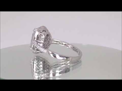 4.15 ctw Oval Cut Diamond Engagement Ring - BigDiamondsUSA - YouTube