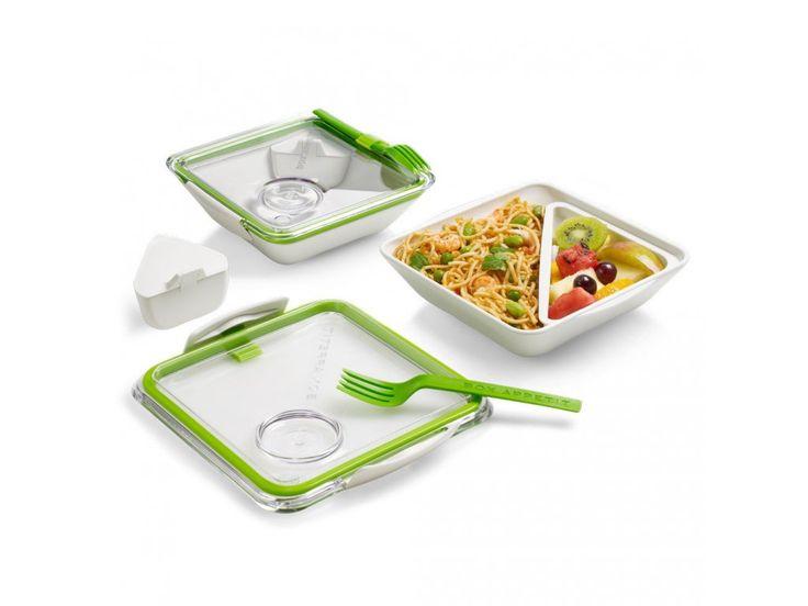 Krabička na jídlo s vidličkou. Jidlonosič Appetit vhodný pro přepravu a…