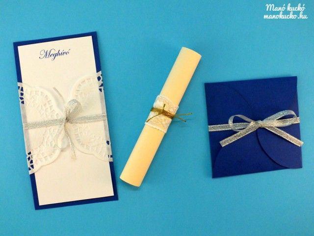Esküvői meghívók készítése házilag - Manó kuckó