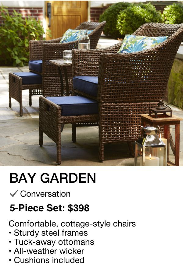 Bay Garden Patio Set 398 As Shown With 2 Chairs 2 Ottomans 1