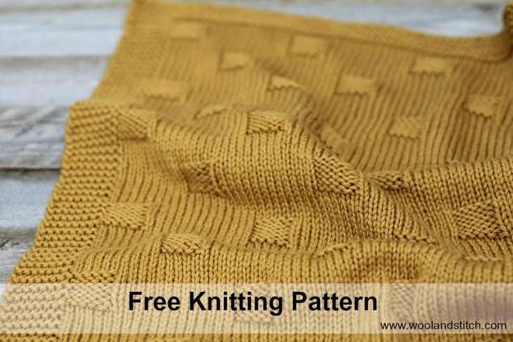 Bryn Knit Baby Blanket Worsted Pattern Free Knitting