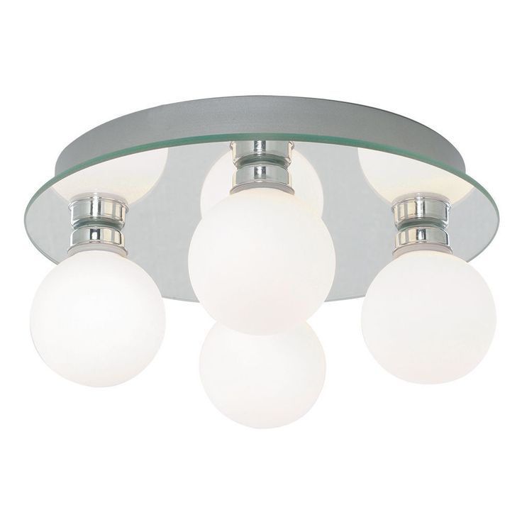 Details About Searchlight 4337 4 Globe 4 Light Opal Glass Shades Halogen Lamp Semi Flush Ip44