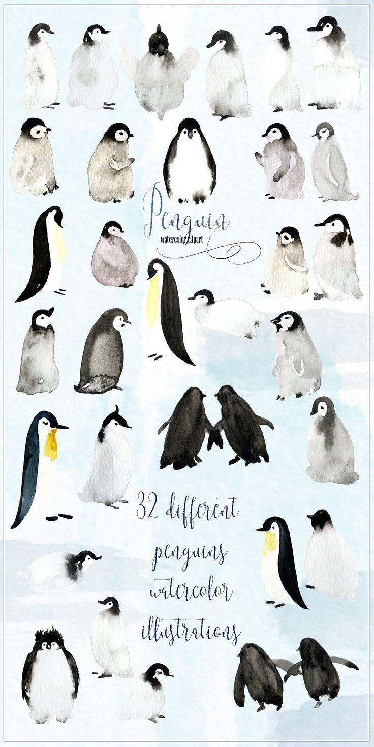 best 25 penguin watercolor ideas on pinterest watercolor happy