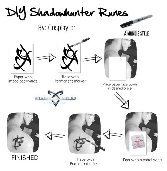 """DIY Shadowhunter Runes"" by cosplay-er ❤ liked on Polyvore featuring beauty"
