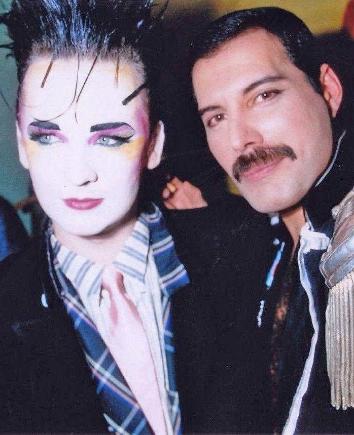 Freddie Mercury and Boy George