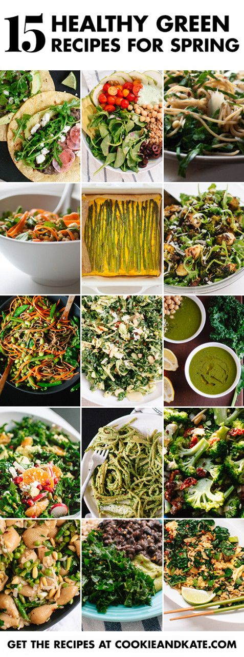 Find 15 healthy green recipes for spring at cookieandkate.com!