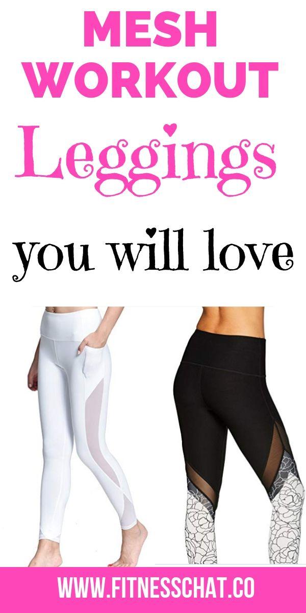 Trendy Mesh Workout Leggings For Women Fitness Healthy