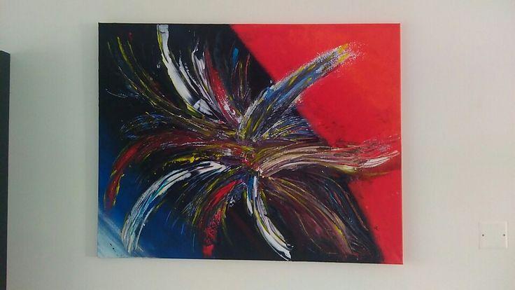 Nouvelle creation art abstrait acrylique