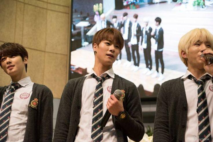 [29.12.15] Baekwoon Middle School - EunWoo, MoonBin e JinJin