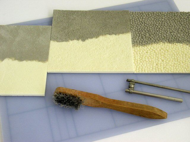 Creating surfaces with kapa line foamboard texture