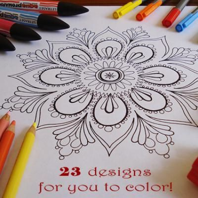 Grown Up Coloring Pages {Free Printable Coloring Pages}