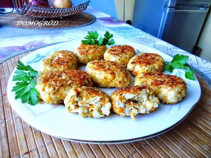 Domogród: Kotlety z kurczaka z serem i marchewką. Pyszności!...