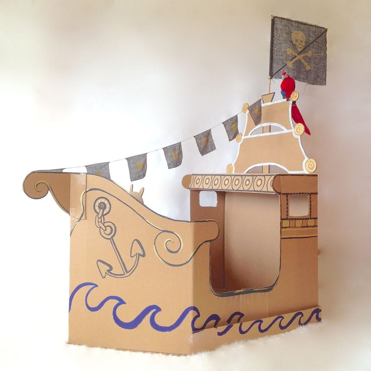 pirate cardboard ship | Fire and Creme Kids
