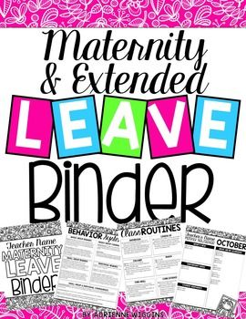This editable PowerPoint file has everything you need to create a maternity leave or extended leave binder that will make planning for your time away a breeze! All you have to do is decide between customizing a blank template or quick-editing an already filled-in version.