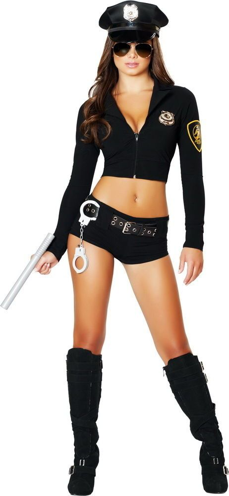 Sexy Cop Police Officer Babe Sheriff Hottie Halloween Costume Outfit Adult Women in Clothing, Shoes & Accessories, Costumes, Reenactment, Theater, Costumes | eBay