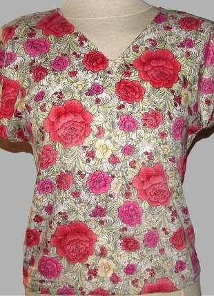 Compra mi artículo en #vinted http://www.vinted.es/ropa-de-mujer/blusas-de-manga-corta/249371-blusa-retro-tejido-floral