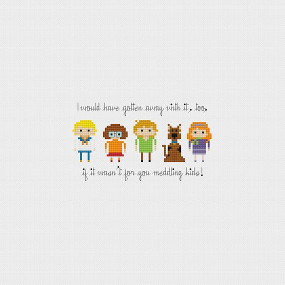 Scooby Doo Gang Cross Stitch Pattern PDF Instant Download