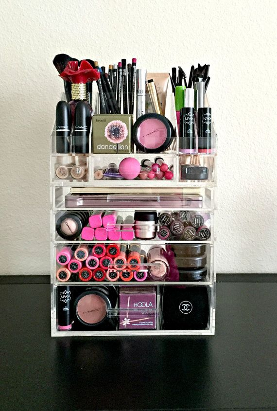 Acrylic Makeup Organizer Large 4 Drawer with by MakeupOrganizer | Makeup | Makeup Storage, Makeup organization, Makeup