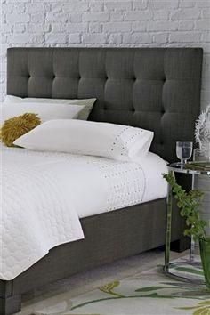 Grey Upholstered Headboards on Pinterest | Navy Yellow Bedrooms ...