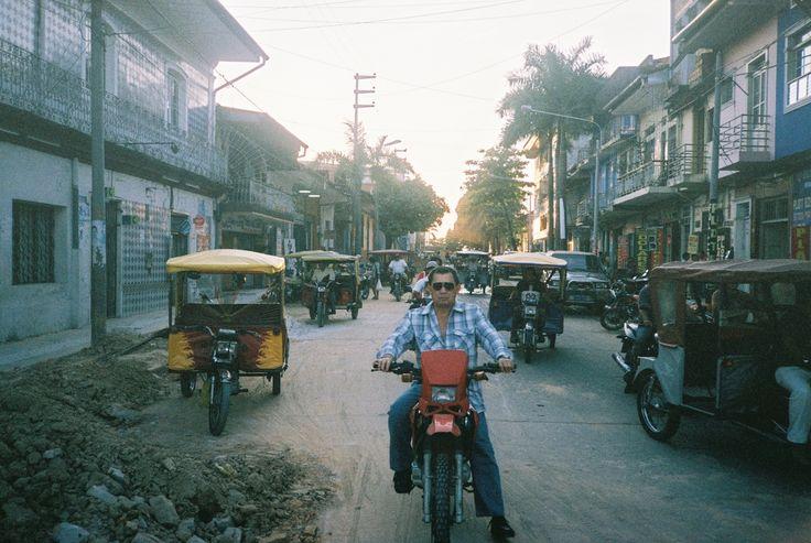 Lone rider in Iquitos, Peru