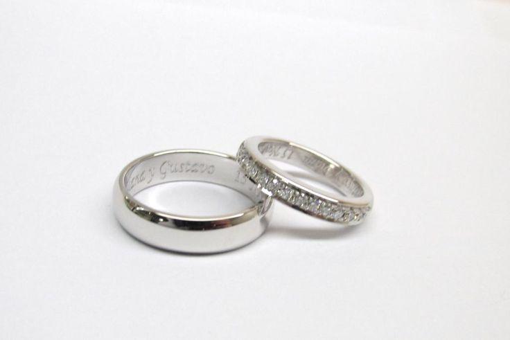 Pensando en argollas de matrimonio? Que tal este diseño trabajado a mano fabricación por encargo sobre pedido personalizado para nuestros clientes
