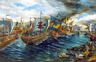 A Batalha de Salamina foi o combate entre a frota persa, liderada por Xerxes I e a grega, comandada por Temístocles. O acontecimento deu-se no estreito que separa Salamina da Ática, possivelmente no dia 29 de setembro de 480 a.C. e terminou com a vitória grega.