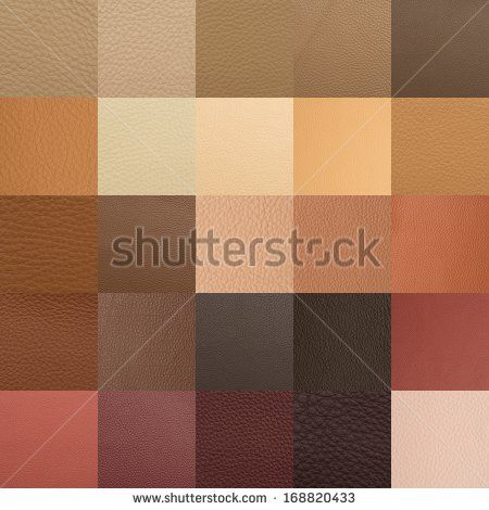 Leather chart with many color and texture samples - stock photo - chart samples