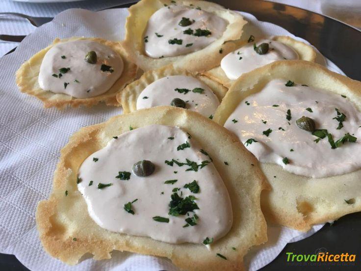 Antipasto di cialde salate con crema di tonno  #ricette #food #recipes
