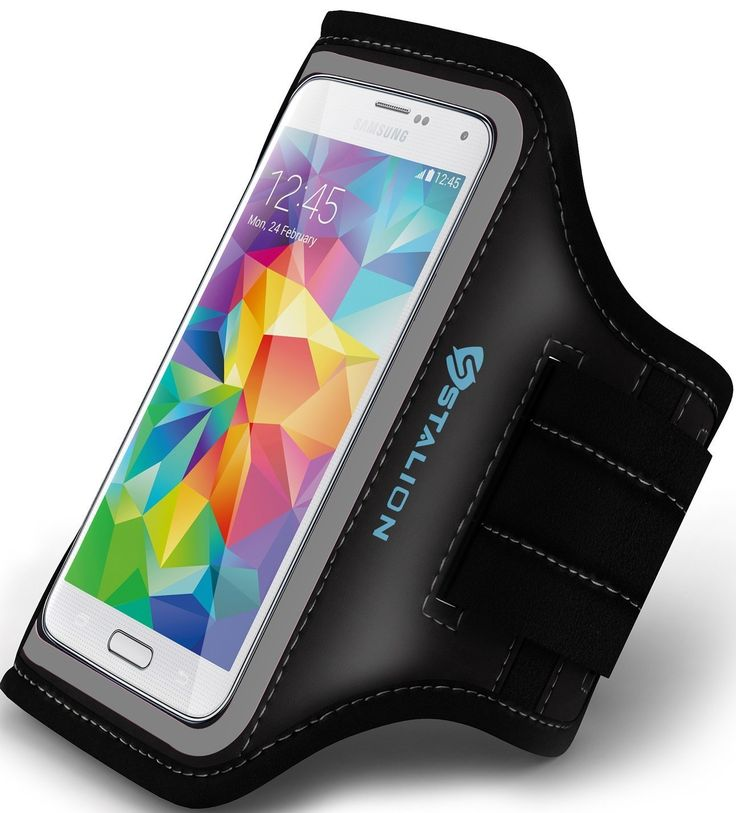 Galaxy S5 Armband: Stalion® Sports Running & Exercise Gym Sportband (Jet Black) Water Resistant + Sweat Proof (Samsung Galaxy S5 Active & S5 Sport). Stalion Sports Armband; the perfect fit designed specifically for your Samsung Galaxy S5 4G LTE HD SM-G900F, SM-G900H (Unlocked), SM-G900A (AT&T), SM-G900TR (MetroPCS), SM-G900P (Sprint), SM-G900T (T-Mobile), SM-G900R (U.S. Cellular), SM-G900V (Verizon). Tired of holding your phone while trying to exercise or do your daily activities!?…